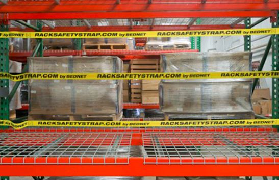 Warehouse Rack Safety Strap