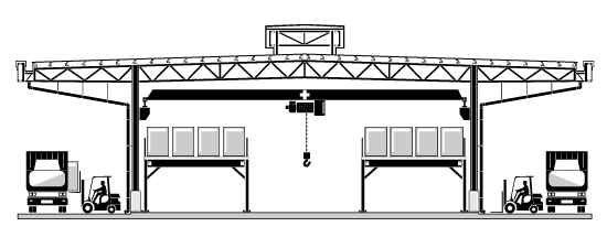 Mezzanines with Shelving-Support