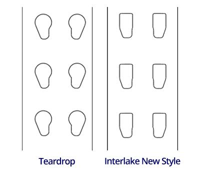 Teardrop vs New Style Interlake Pallet Rack