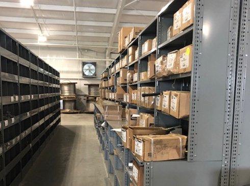 Warehouse Shelving with Ledge